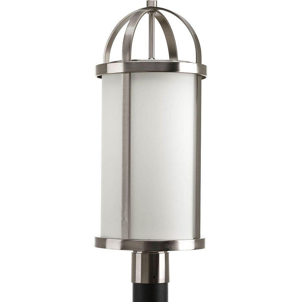 Progress Lighting Lampadaire à 1 Lumière, Collection Greetings - fini Nickel Brossé