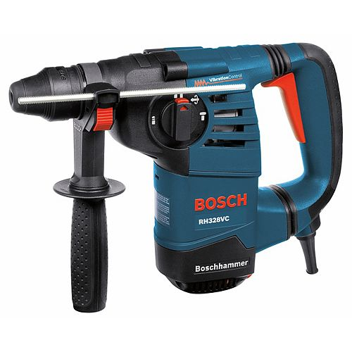 120V Keyless Corded 1-1/8 Inch SDS-Plus Rotary Hammer with 360 Auxiliary Handle