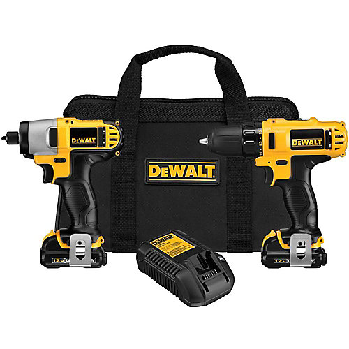 12V MAX Li-Ion Cordless Drill/Driver and Impact Combo Kit (2-Tool) w/ (2) Batteries 1.5Ah, Charger and Bag