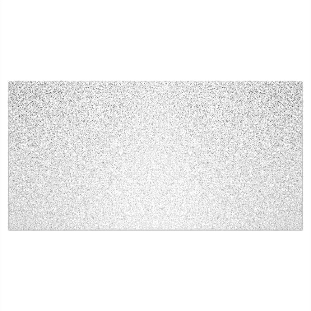 Genesis Tuile Blanche Stucco Pro 2 pds x 4 pds pour Plafond Suspendu
