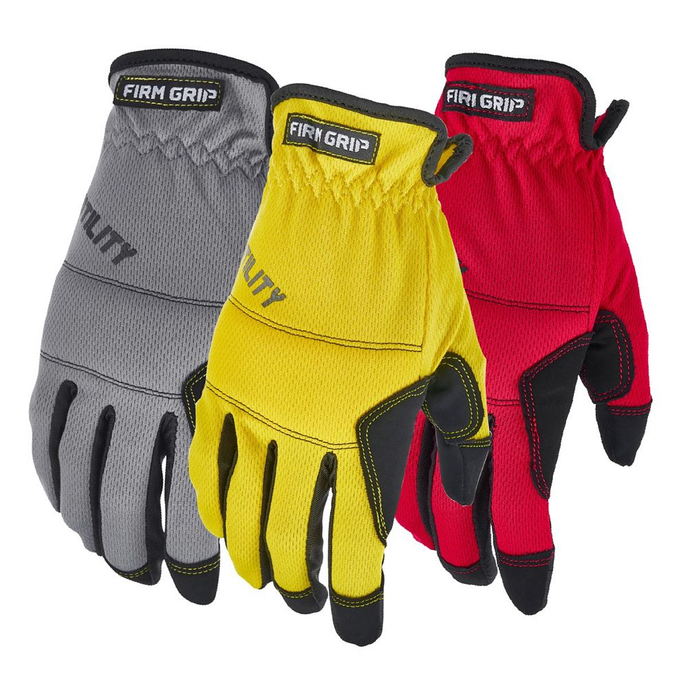Firm Grip All Purpose High Performance Work Gloves (3-Pack)