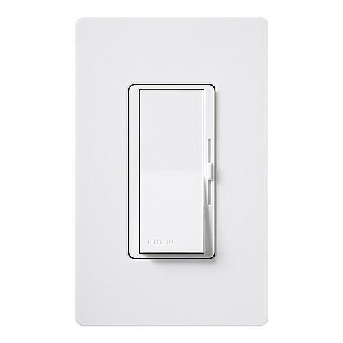 Diva 1.5 A Single Pole or 3-Way 3 Speed Fan Control - White