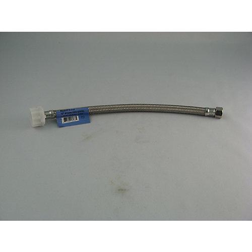 Tube connecteur d'alimentation tressé de toilette:  12 po