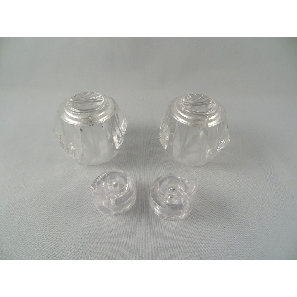 Jag Plumbing Products Crystal Handle Pair