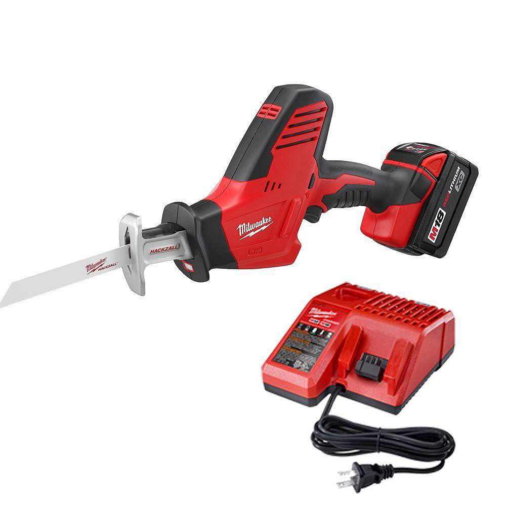 Milwaukee Tool HACKZALL M18 Cordless LITHIUM-ION One-Handed Recip Saw Kit