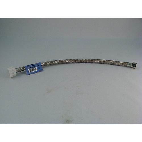 Tube connecteur d'alimentation tressé de  toilette:  16 po