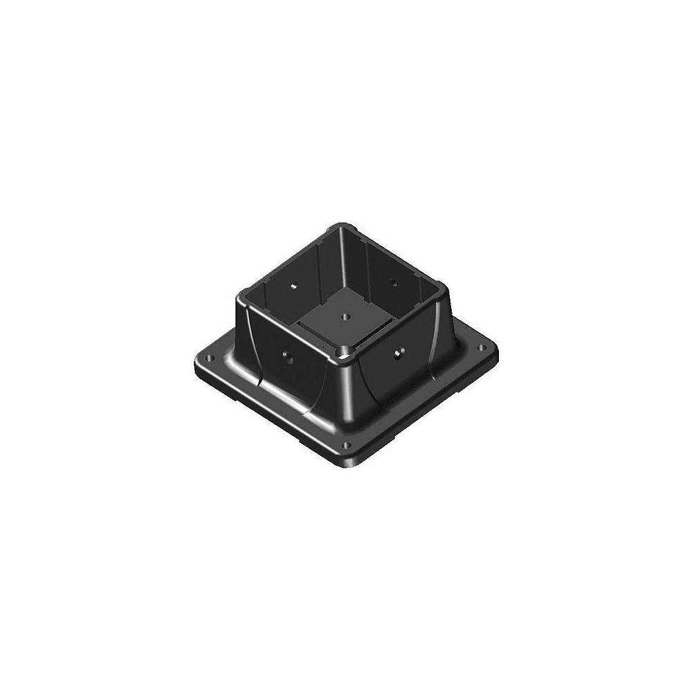 Peak Products Ancrage de poteau noir 4 pouces x 4 pouces