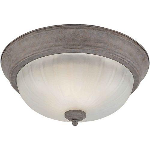 Filament Design Burton 2 Light Ceiling Desert Stone  Compact Fluorescent Lighting  Flush Mount