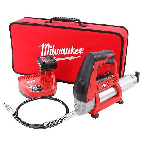 M12 12-Volt Lithium-Ion Cordless Grease Gun Kit with (1) 3.0 Ah Battery, Charger and Tool Bag