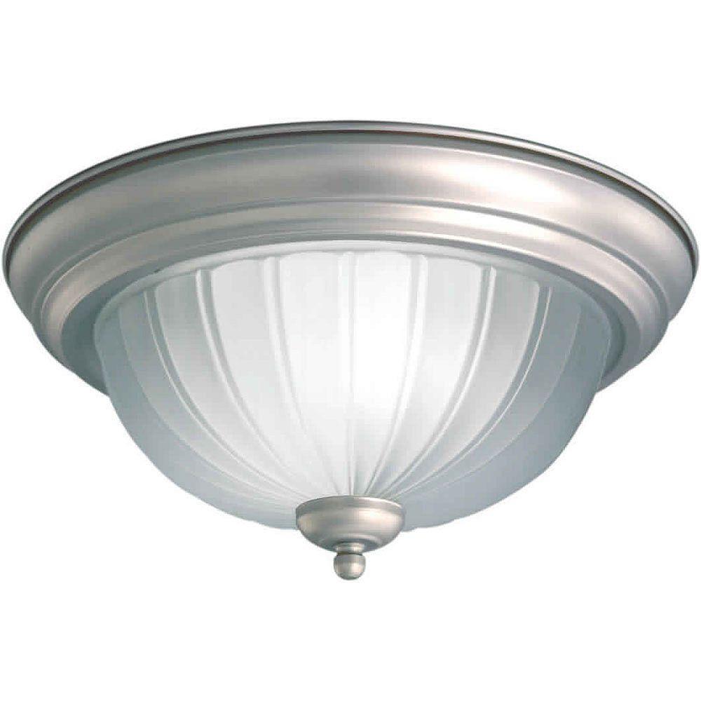 Filament Design Burton 3-Light Ceiling Brushed NickelFlush Mount