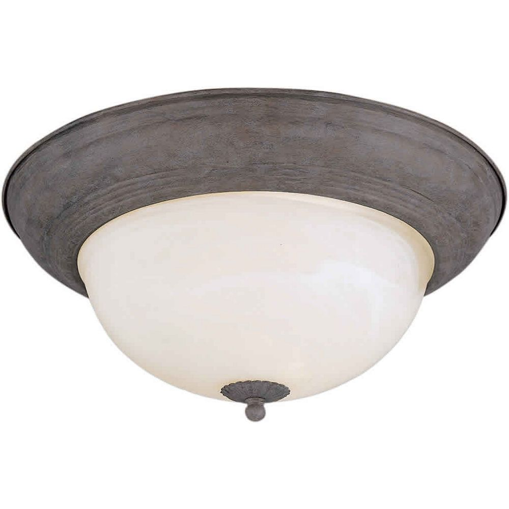 Filament Design Burton 2 Light Ceiling Desert Stone  Incandescent Flush Mount