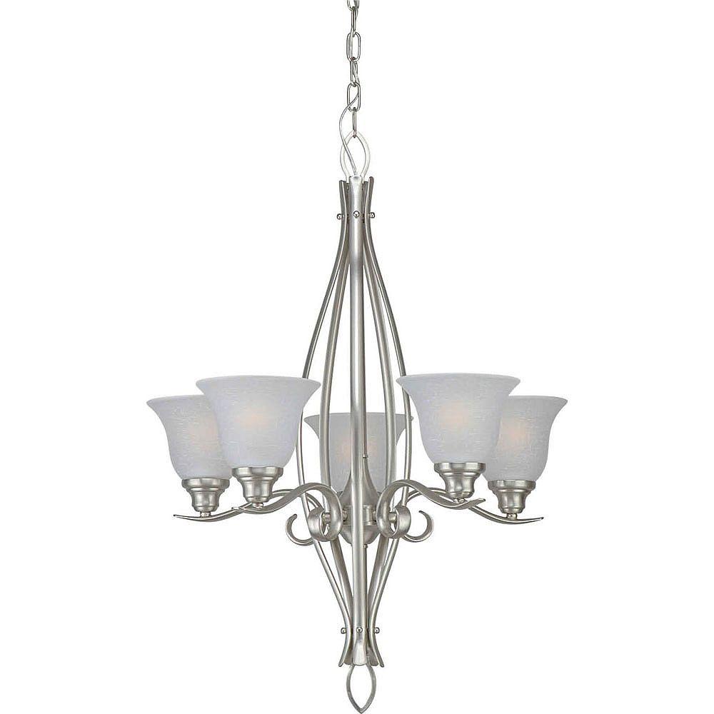 Filament Design Burton 5-Light Ceiling Brushed Nickel Chandelier