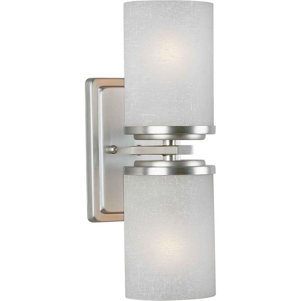 Filament Design lumière fixée au mur avec abat-jour blanc couleur en argent
