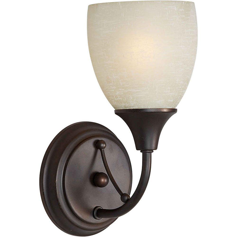 Filament Design lumière fixée au mur avec abat-jour de spécialité couleur en bronze