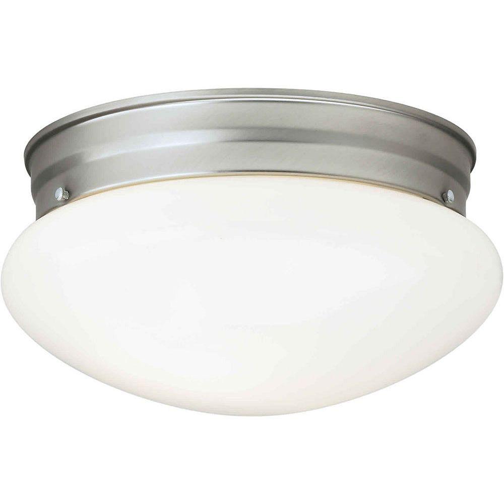 Filament Design Burton 1 Light Ceiling Brushed Nickel  Incandescent Flush Mount