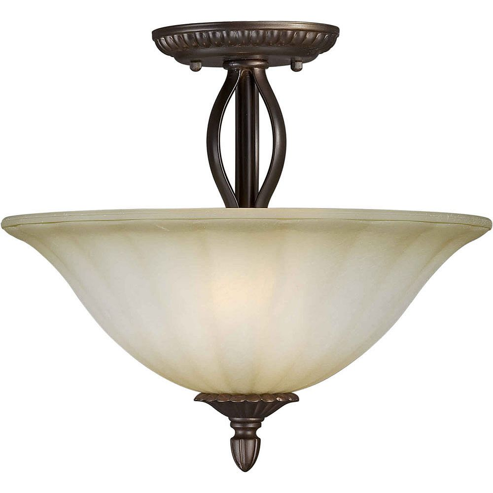 Filament Design Plafonnier avec abat-jour de spécialité couleur en bronze