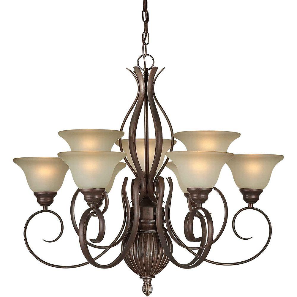 Filament Design Burton 9-Light Ceiling Black Cherry Chandelier