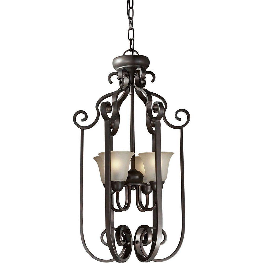 Filament Design Burton Incandescent Light Ceiling Antique Bronze  Incandescent Pendant