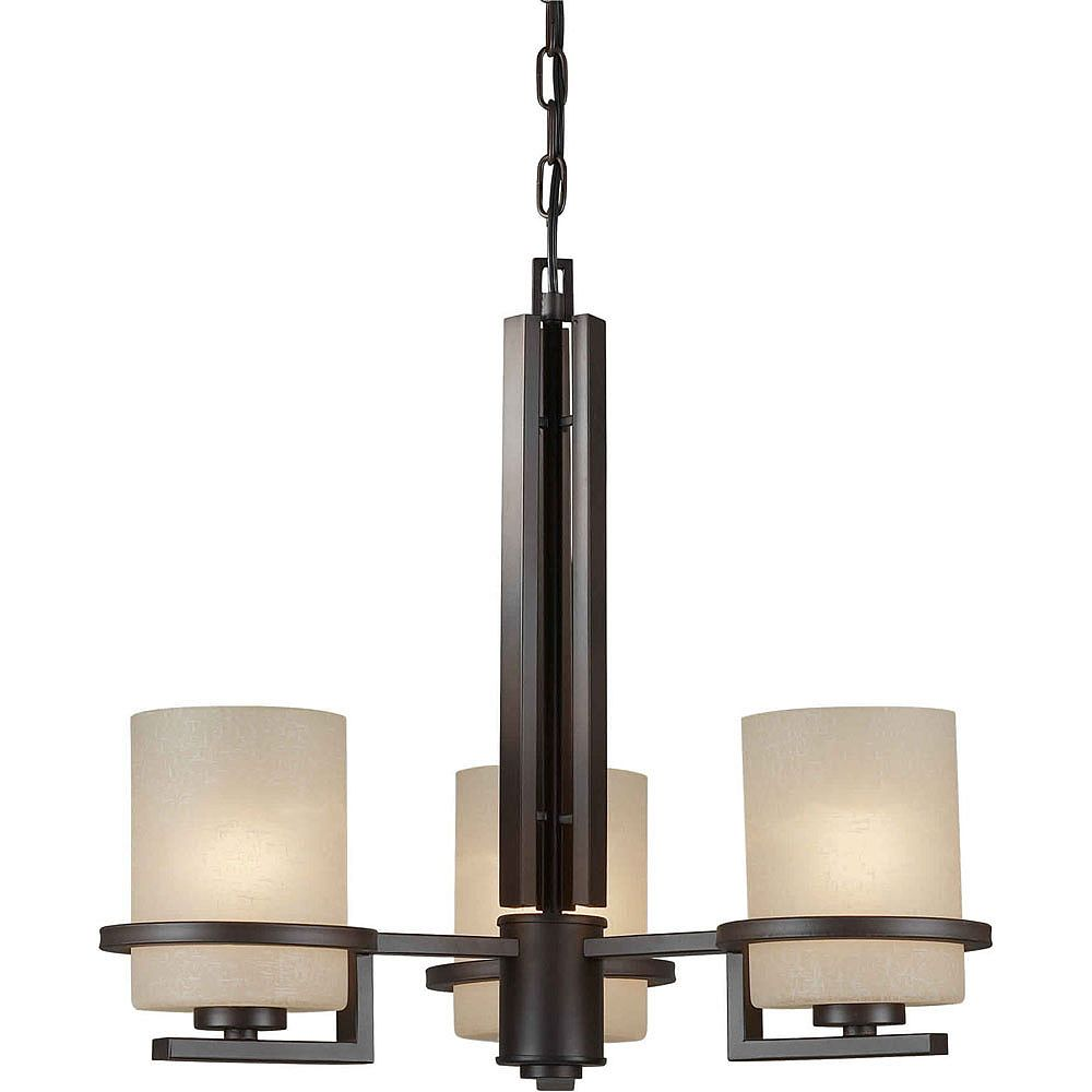 Filament Design Burton 3-Light Ceiling Antique Bronze Chandelier