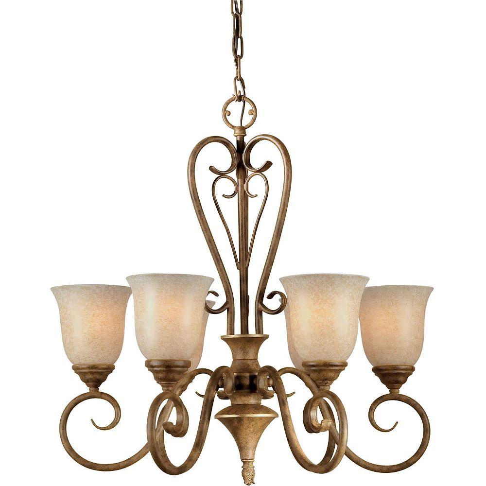 Filament Design lumière accrochante avec abat-jour de spécialité couleur en bronze