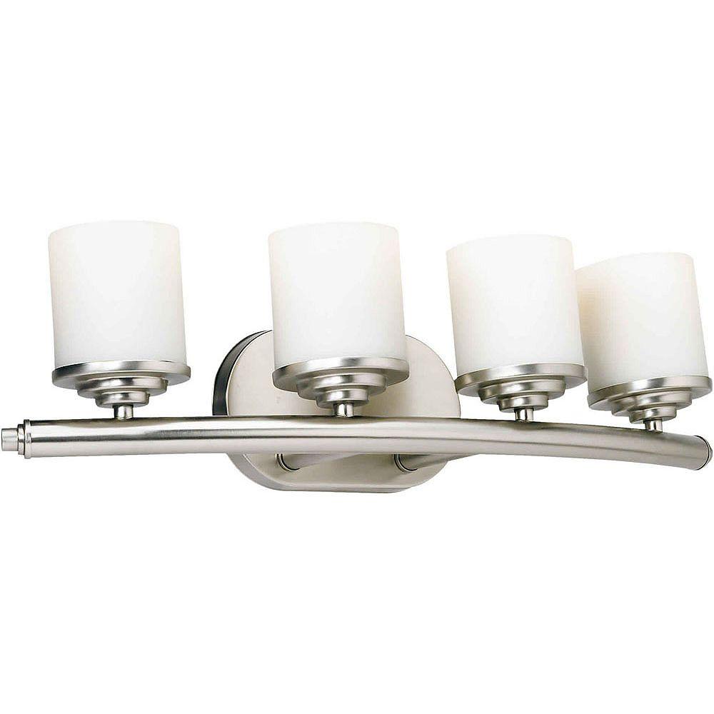 Filament Design Burton 4-Light Wall Brushed Nickel Bath Vanity