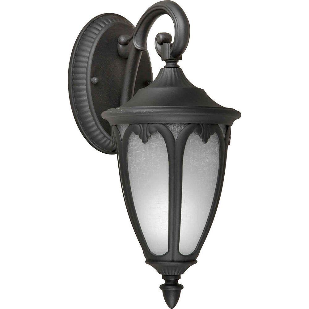 Filament Design lumière fixée au mur avec abat-jour blanc couleur en noir