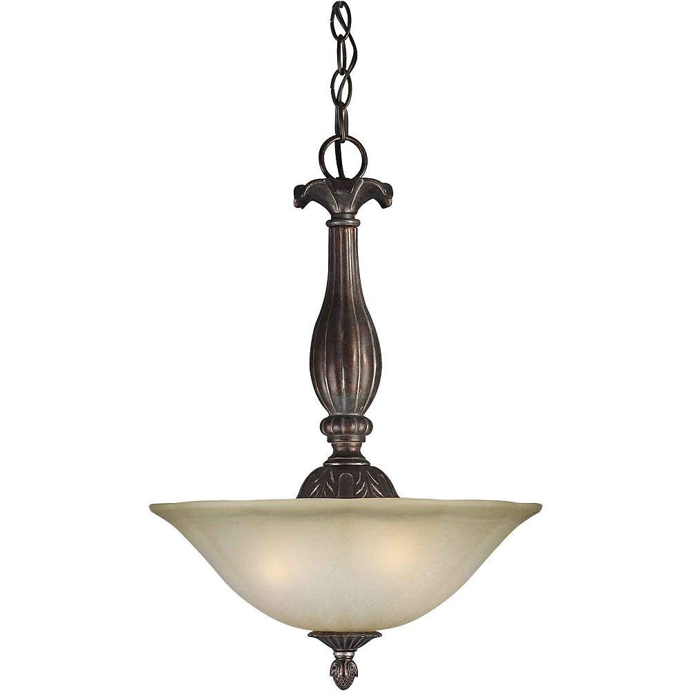 Filament Design Burton Incandescent Light Ceiling Black Cherry  Incandescent Pendant
