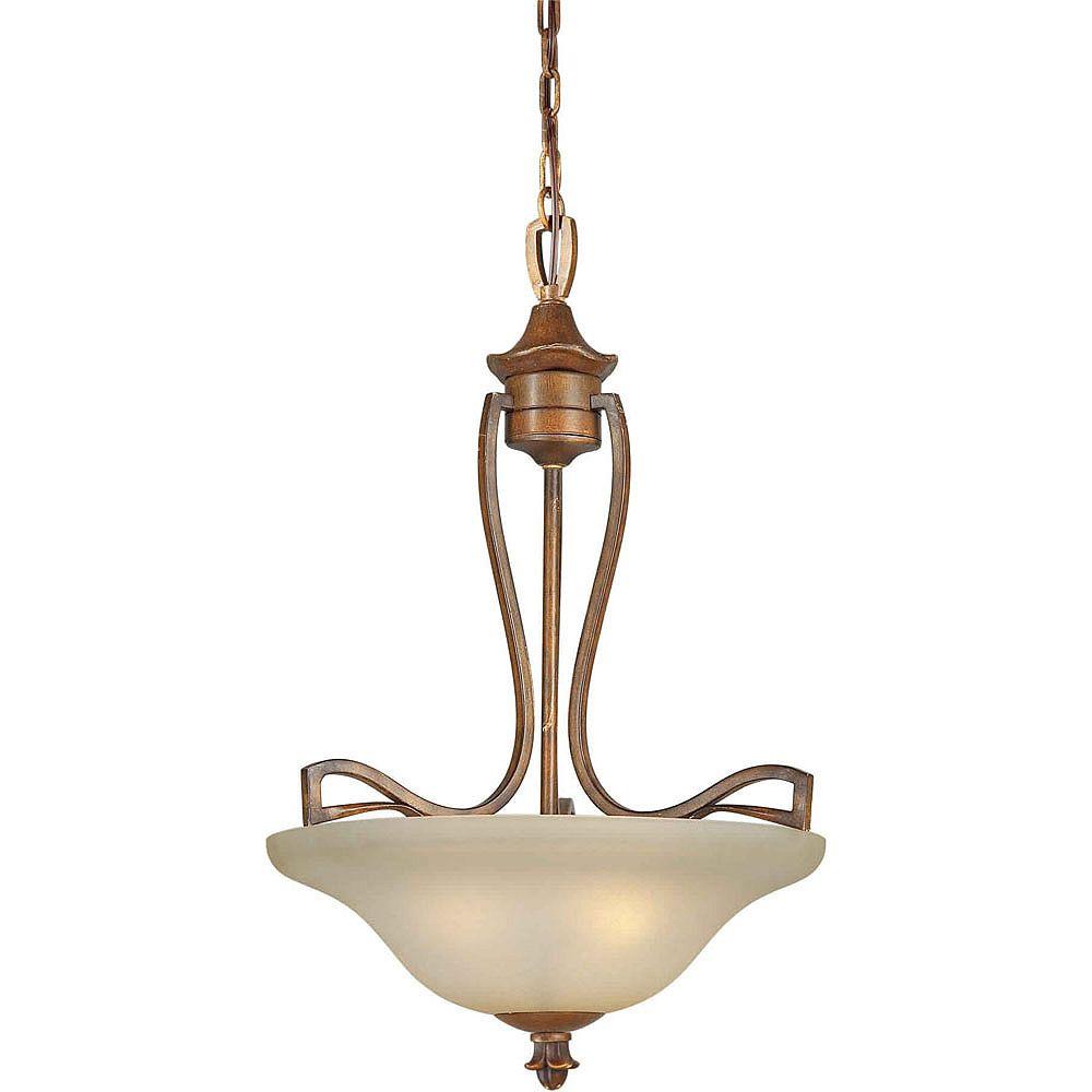 Filament Design Burton-Light Ceiling Rustic Sienna Pendant