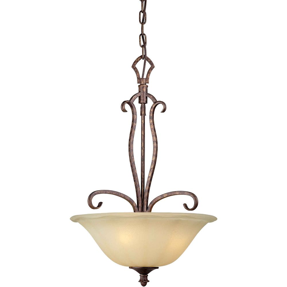 Filament Design Burton Incandescent Light Ceiling Rustic Spice  Incandescent Pendant