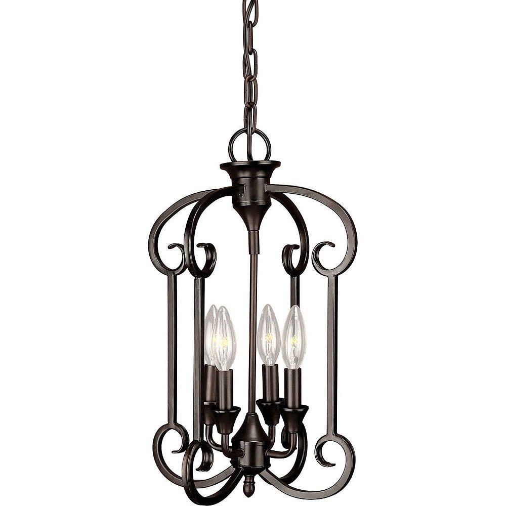 Filament Design Burton-Light Ceiling Antique Bronze Pendant