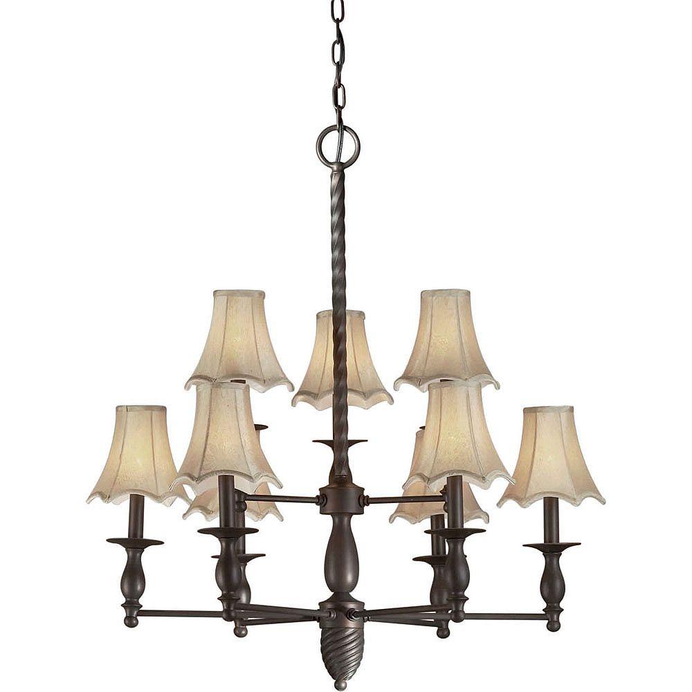 Filament Design Burton 9-Light Ceiling Antique Bronze Chandelier