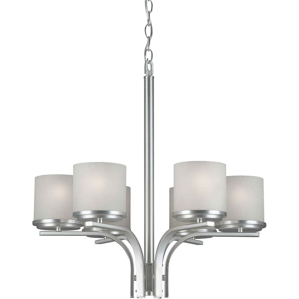 Filament Design lumière accrochante avec abat-jour blanc couleur en argent