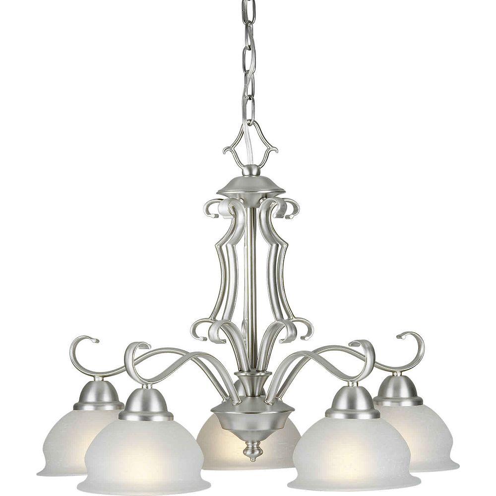 Filament Design Burton 5 Light Ceiling Brushed Nickel  Incandescent Chandelier