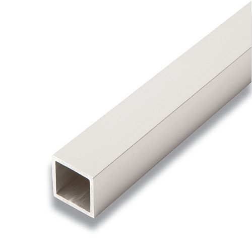 Metal Square Tube Satin Clear 1 In. x 1 In. x 8 Ft.