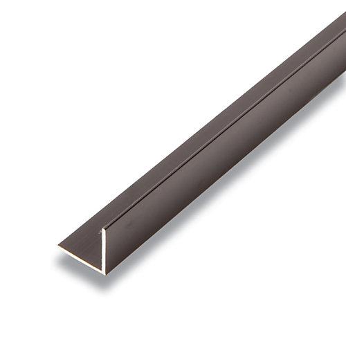 Metal Angle Black 3/4-inch x 3/4-inch x 8 Ft.