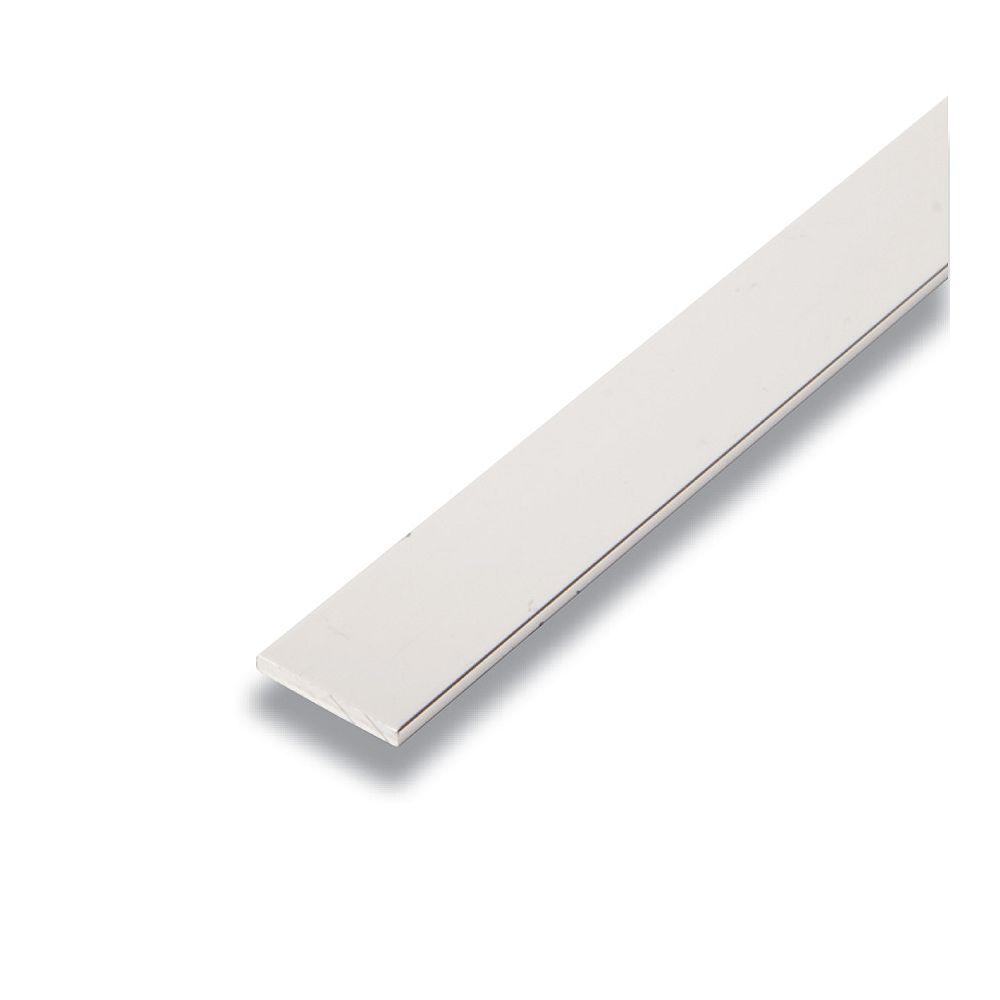 Alexandria Moulding Metal Flat Bar Mira Lustre 1/8 In. x 3/4 In. x 8 Ft.