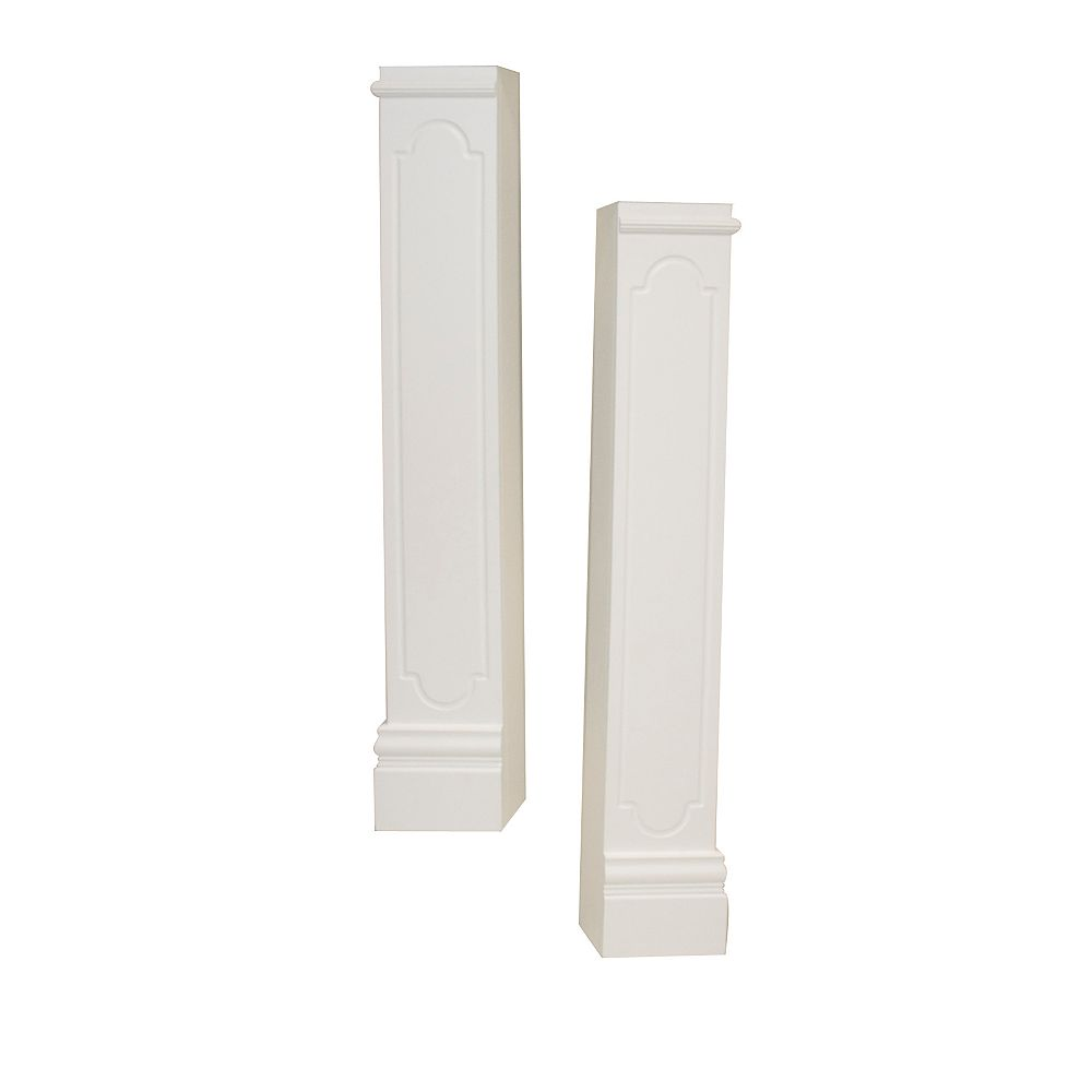 Elements Oxford Mantel Legs CARB compliant MDF, White (Set of 2)