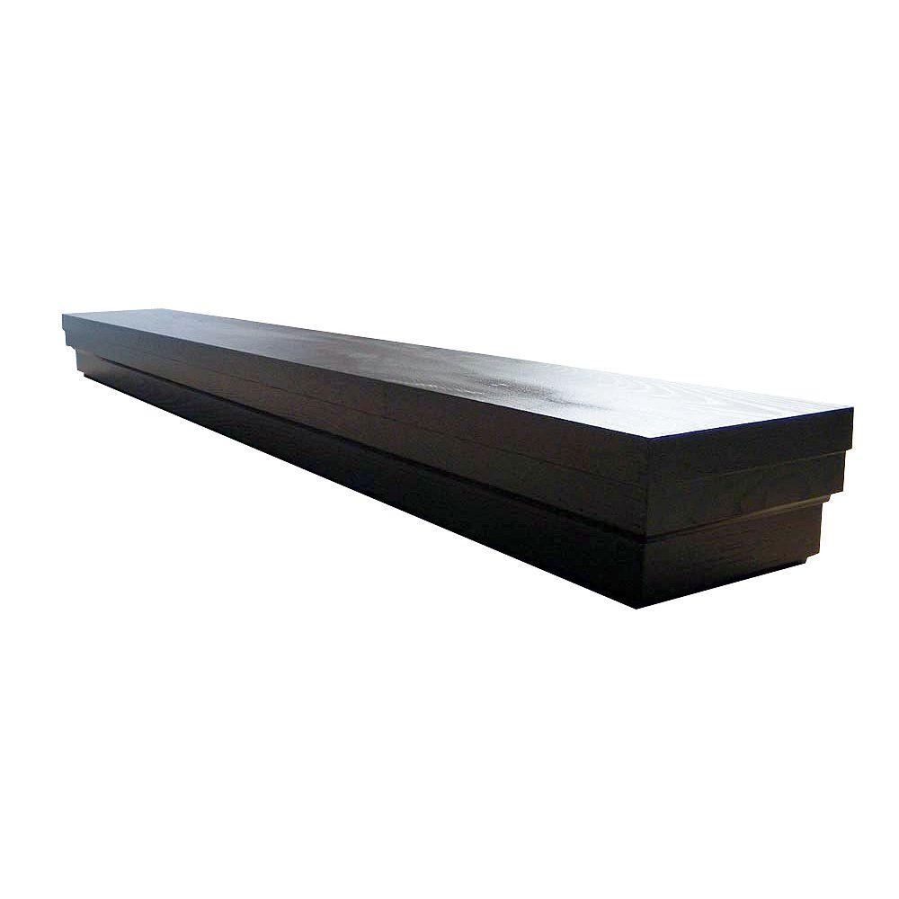 Elements Roman 60 Inch Contemporary Mantel Shelf in Espresso Veneer