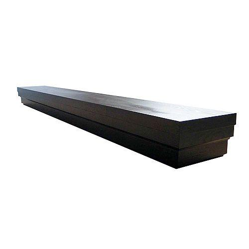 Roman 60 Inch Contemporary Mantel Shelf in Espresso Veneer