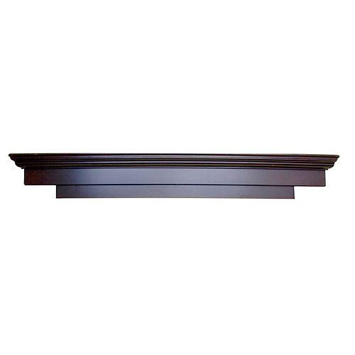 Laurentian Mantel Shelf, Espresso CARB compliant MDF - 71 Inch