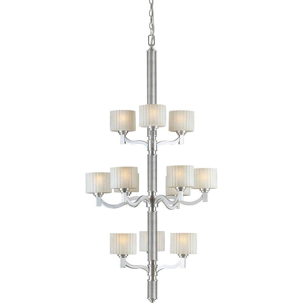 Filament Design Burton 12-Light Ceiling Brushed Nickel Chandelier