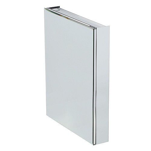 Glacier Bay 24-inch W x 30-inch H x 5-inch D Frameless Recessed or Surface-Mount Bathroom Medicine Cabinet with Beveled Mirror