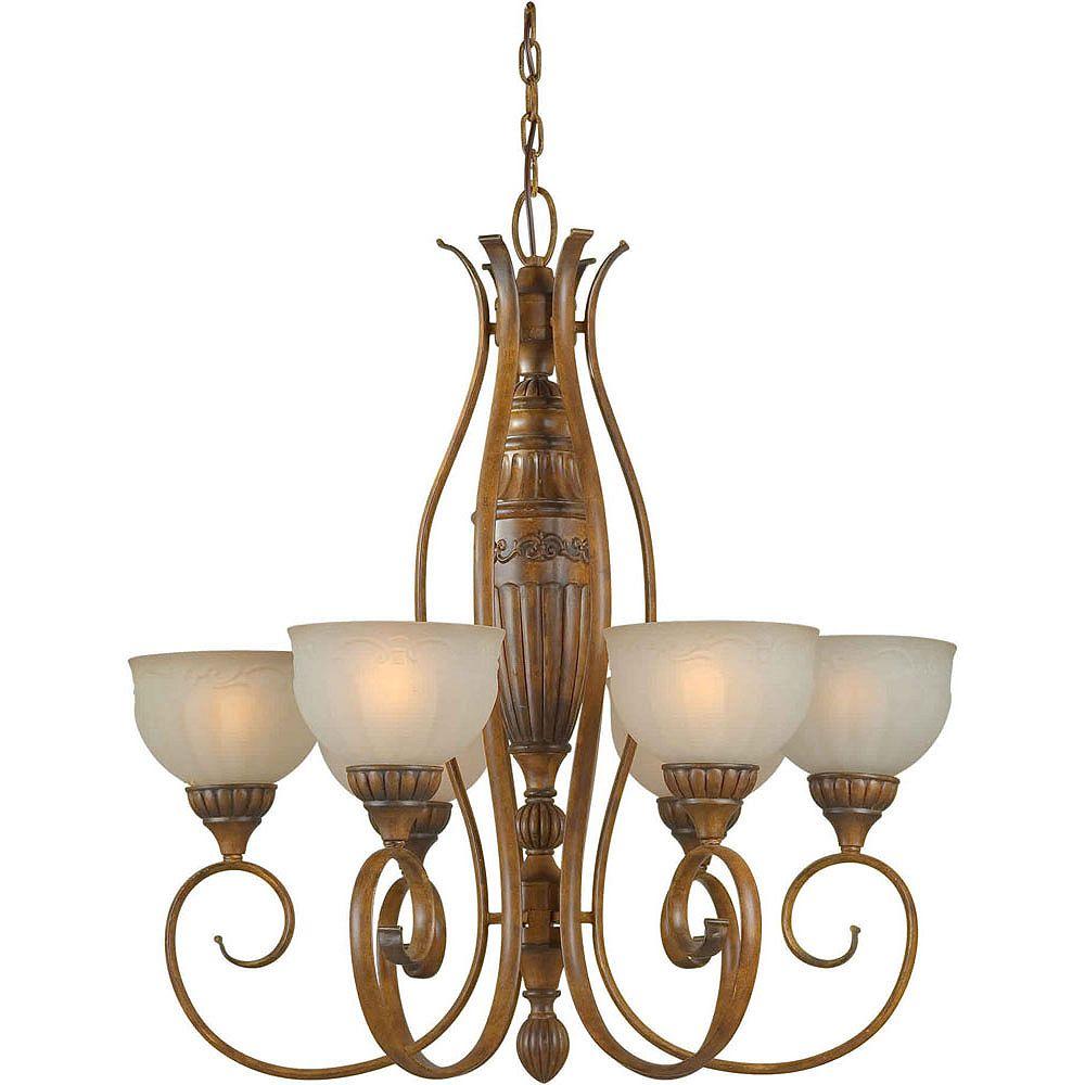 Filament Design Burton 6-Light Ceiling Rustic Sienna Chandelier