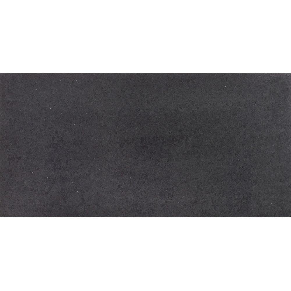 Enigma Division Black 12-inch x 24-inch Polished Porcelain Tile