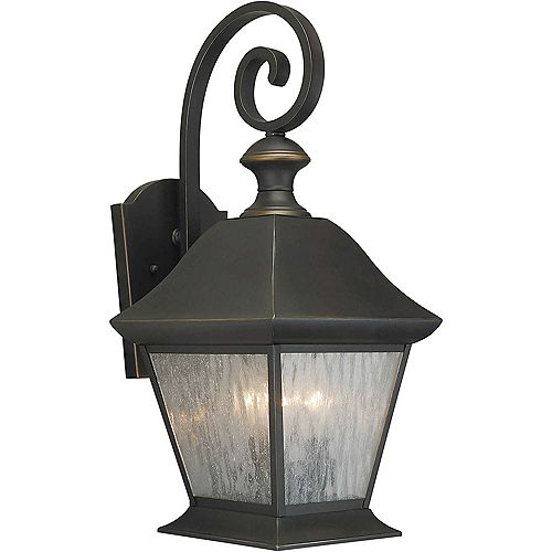 Filament Design Burton 3-Light Royal Bronze Outdoor Wall-Light