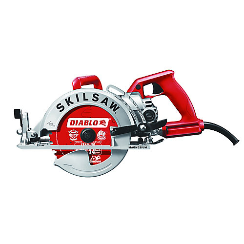 15 amp Electric 7.25-inch Magnesium Worm Drive Circular Saw with 24-Tooth Carbide Tipped Blade
