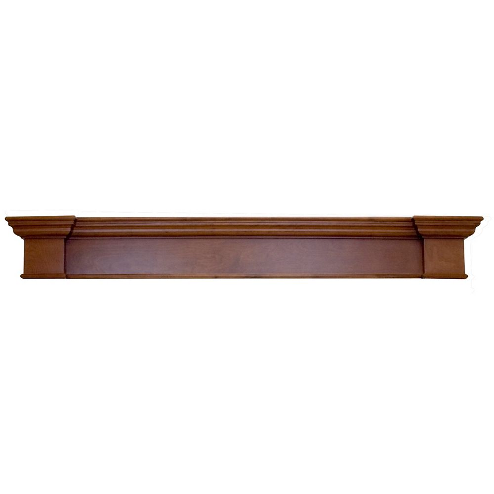Elements Harbour Mantel Shelf, Mahogany CARB Compliant MDF - 71 Inch
