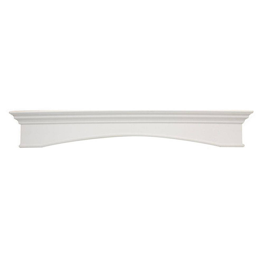 Elements Oxford Mantel Shelf, White CARB Compliant MDF - 64 Inch