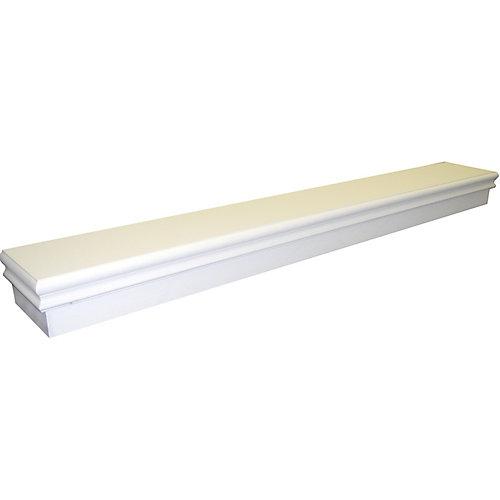 Montego 60 Inch Transitional Mantel Shelf in Gloss White