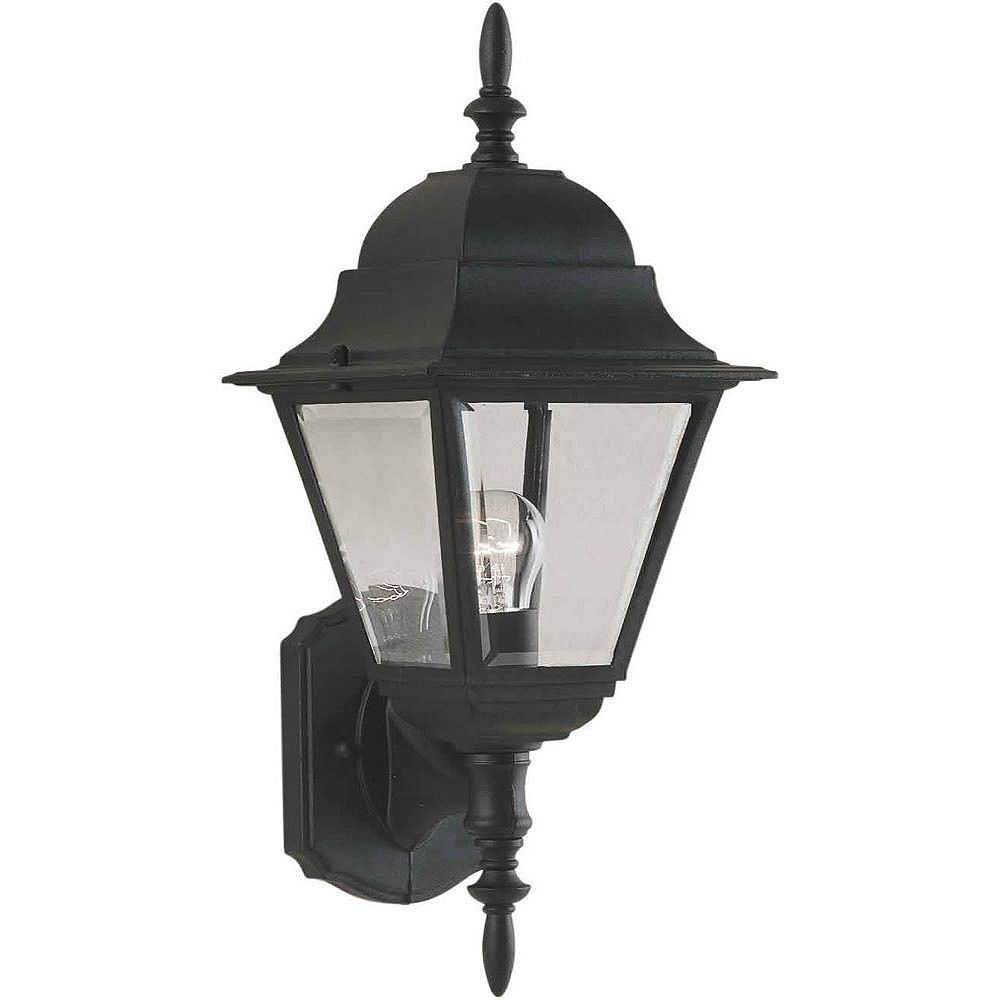 Filament Design Burton 1 Light Black Outdoor Incandescent Wall Light